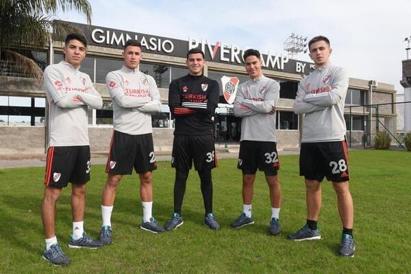 Primera pretemporada para Leonardo Díaz, Tomás Lecanda, Felipe Peña, Tomás Galván y Flabián Londoño.